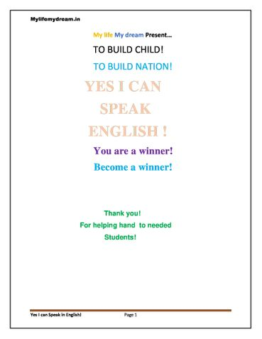 Yes I can Speak In English!