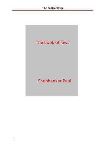 The book of laws