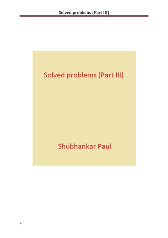 Solved problems (Part III)