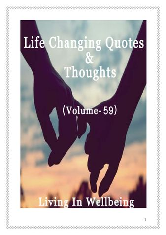 Life Changing Quotes & Thoughts (Volume 59)