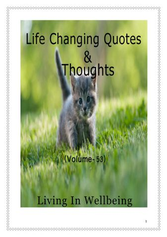 Life Changing Quotes & Thoughts (Volume 53)