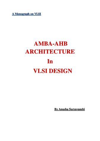 AMBA-AHB ARCHITECTURE In VLSI DESIGN
