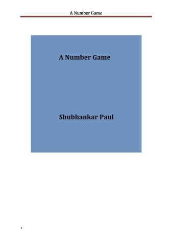 A Number Game
