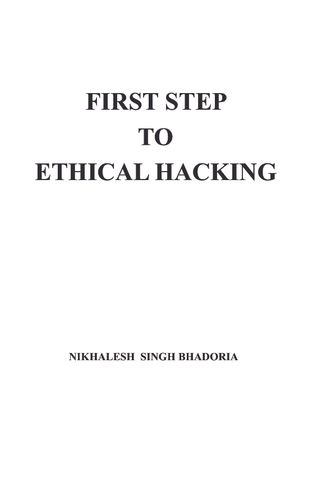 First Step To Ethical Hacking