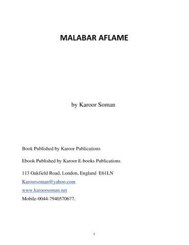 MALABAR AFLAME by Karoor Soman