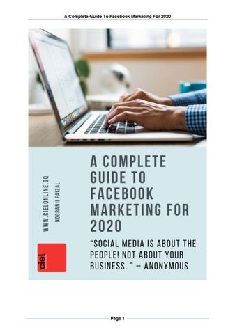 A Complete Guide To Facebook Marketing For 2020