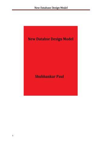 Database System Design Model