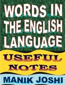 Words In the English Language: Useful Notes