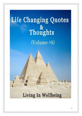 Life Changing Quotes & Thoughts (Volume 15)