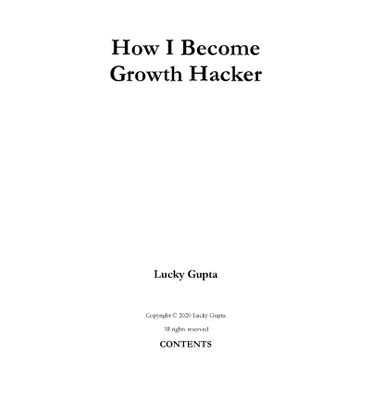 How I Become A Growth Hacker