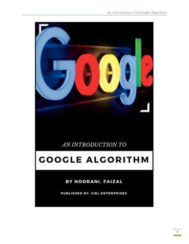 An Introduction To Google Algorithm