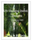 Life Changing Quotes & Thoughts (Volume 140)