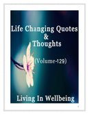 Life Changing Quotes & Thoughts (Volume 129)
