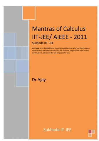 Calculus for IIT - JEE