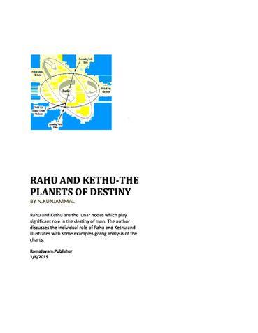 RAHU AND KETHU-THE PLANETS OF DESTINY