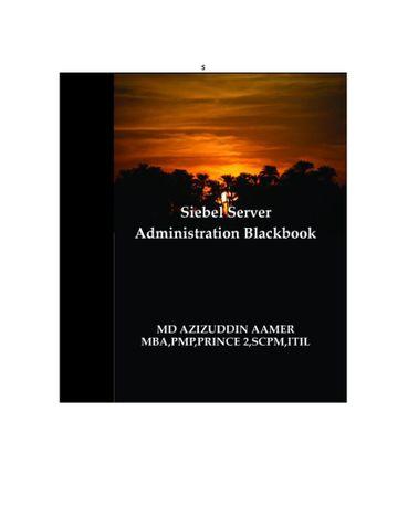 Siebel Server Administration Blackbook