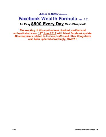 500$s a day from facebook guranteed!