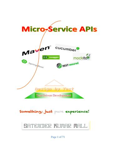 Micro Service APIs – Design by Test