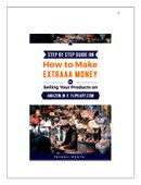 Step by Step Guide on  How To Make Extraaa Money by Selling Your Products on   Amazon.in and Flipkart.com