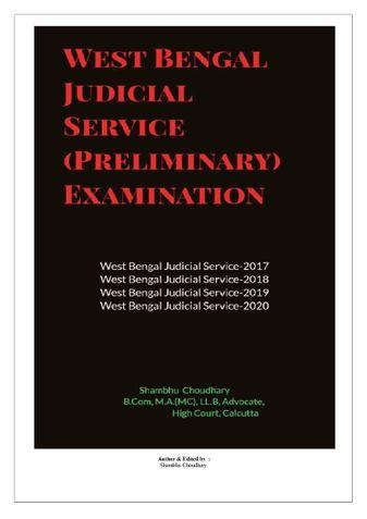 West Bengal Judicial Service (Preliminary) Examination