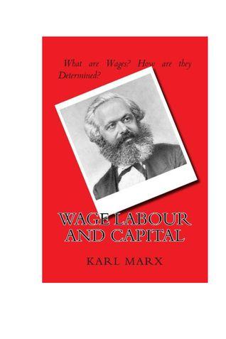 Wage Labour & Capital