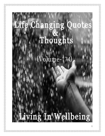 Life Changing Quotes & Thoughts (Volume 174)