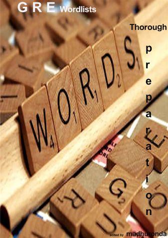 Barron's GRE wordlists