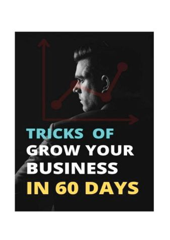 TRICKS TO GROW YOUR BUSINESS IN 30 DAYS