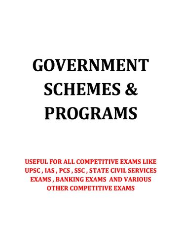 Government Schemes and Programs