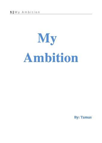 My Ambition