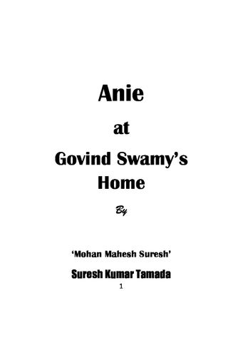 Anie at Govind Swamy's Home