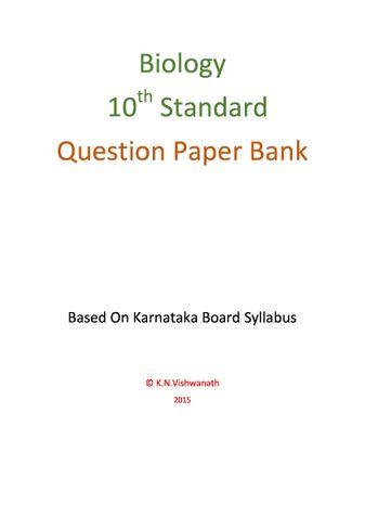 Biology  (Karnataka 10th Standard)