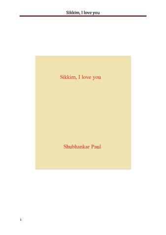 Sikkim, I love you