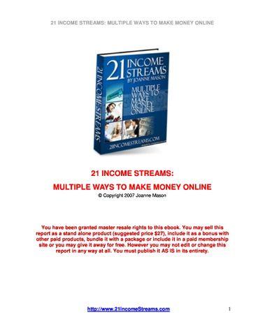 21 INCOME STREAMS