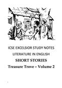 ICSE EXCELSIOR STUDY NOTES LITERATURE IN ENGLISH
