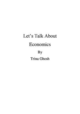 Let's Talk About Economics