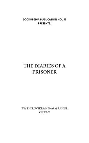 THE DIARIES OF A PRISONER