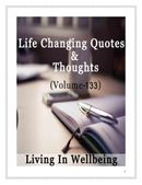 Life Changing Quotes & Thoughts (Volume 133)