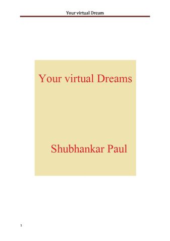 Your virtual Dream