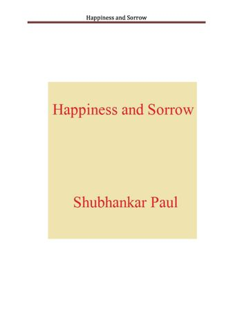 Happiness and Sorrow