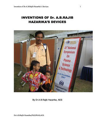 Inventions of Dr.A.B.Rajib Hazarika's Devices