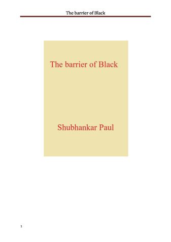 The barrier of Black