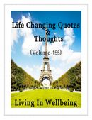Life Changing Quotes & Thoughts (Volume 155)