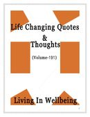 Life Changing Quotes & Thoughts (Volume 191)