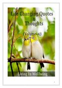 Life Changing Quotes & Thoughts (Volume 42)