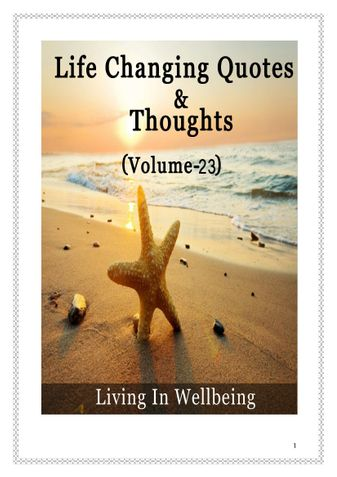 Life Changing Quotes & Thoughts (Volume 23)