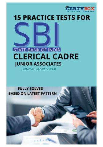15 Practice Tests for SBI Bank Clerk Junior Associates Preliminary Exam 2021
