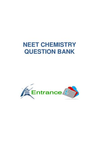 NEET CHEMISTRY QUESTION BANK