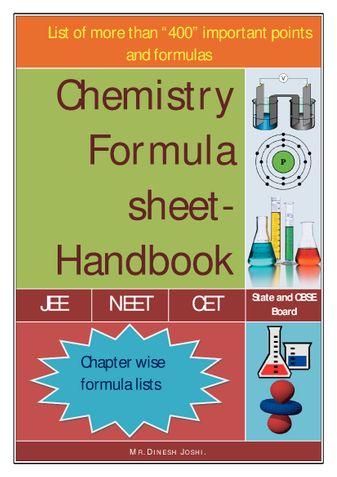 Chemistry Formula sheet- Handbook