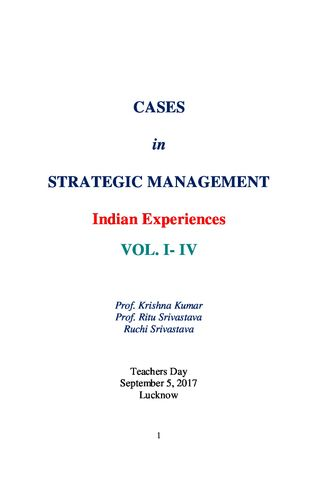 Cases in Strategic Management Vol. I-IV
